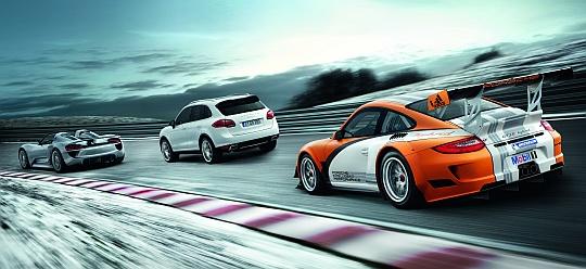 918 Spyder, Cayenne S Hybrid und 911 GT3 R Hybrid