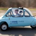 Heinkel-Kabinenroller als Elektro-Auto