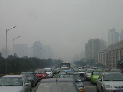 Smog Peking Verkehr