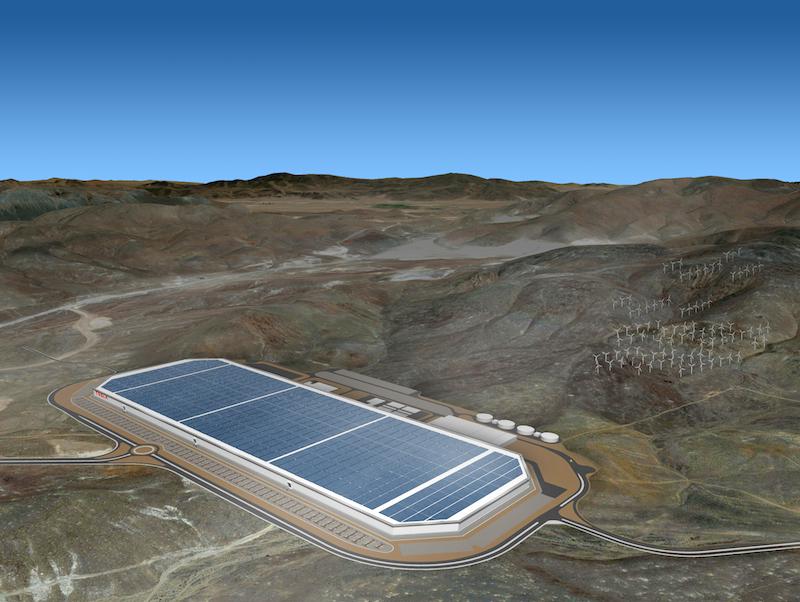 Plan der Tesla Gigafactory - © teslamotors