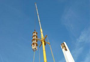 TimberTower Holzturm Windkraftanlage