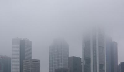 Stadt,Skyline,Wolkenkratzer,Nebel,Smog