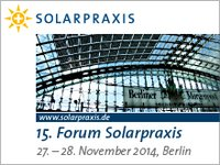 15. Forum Solarpraxis 27.-28. November 2014 im Hilton Berlin
