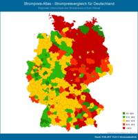 Studie - Strompreise in Deutschland